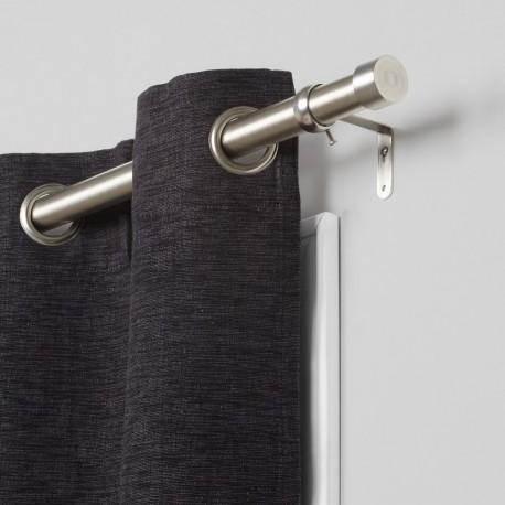 umbra cappa tringle a rideaux simple metal argent 244997-411