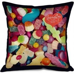 Coussin bonbons bonjour mon coussin jardin sucre 35 x 35