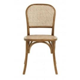 nordal chaise style classique bois naturel rotin
