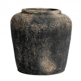 muubs jarre noire texture brulee terre cuite rock 35