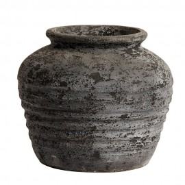 muubs melancholia 30 jarre terre cuite noire texturee brulee