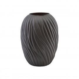 grand vase design verre texture brun fonce house doctor noa