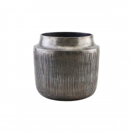 house doctor heylo cache pot metal aluminium texture