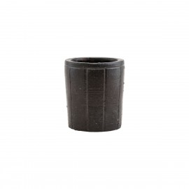 house doctor julian petit cache pot design marron
