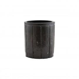 house doctor cache pot argile brun design julian