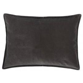 ib laursen housse de coussin velours rectangulaire noir 50 x 70 cm