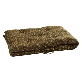 coussin long matelas de sol decoratif coton imprime vert madam stoltz