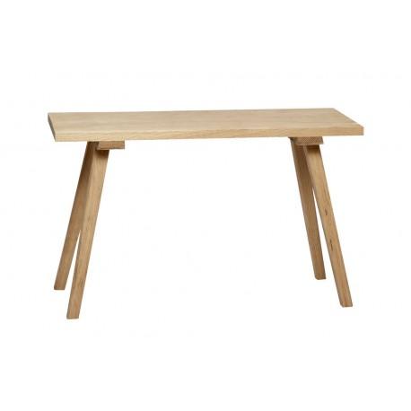 hubsch petit banc bois chene clair naturel style scandinave