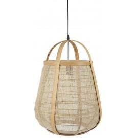 ib laursen suspension ovale bois naturel toile de jute