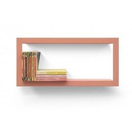 Étagère rectangulaire cadre métal Presse Citron Largstick rose