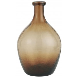 ib laursen vase dame jeanne marron verre