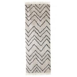 hk living tapis de couloir style berbere motif zig zag noir blanc