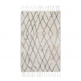 hk living petit tapis style berbere coton ecru gris 60 x 90 cm