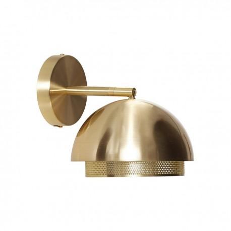 hubsch applique metal dore laiton perfore demi sphere 990708