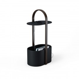 umbra hub table d appoint design rangement cables noir