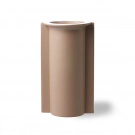 hk living vase forme de moule gres marron clair