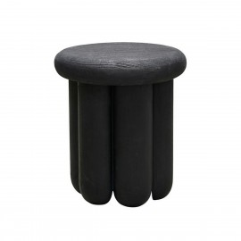 house doctor phant table d appoint design ronde bois de manguier noir