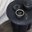 house doctor phant table d appoint design ronde bois de manguier noir