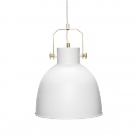hubsch suspension industrielle metal blanc dore