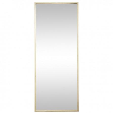 grand miroir mural rectangulaire xl cadre bois clair hubsch