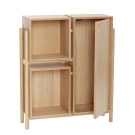hubsch buffet meuble de rangement scandinave bois clair