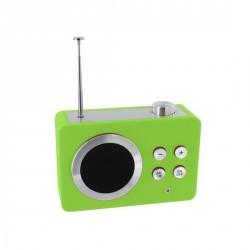 Petite radio portable lexon mini dolmen vert
