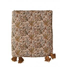 madam stoltz boutis couvre lit coton fleuri rose style boheme