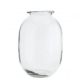 madam stoltz vase ovale en verre