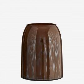 madam stoltz vase style retro verre marron