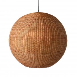hk living ball suspension boule bois de bambou d 60 cm