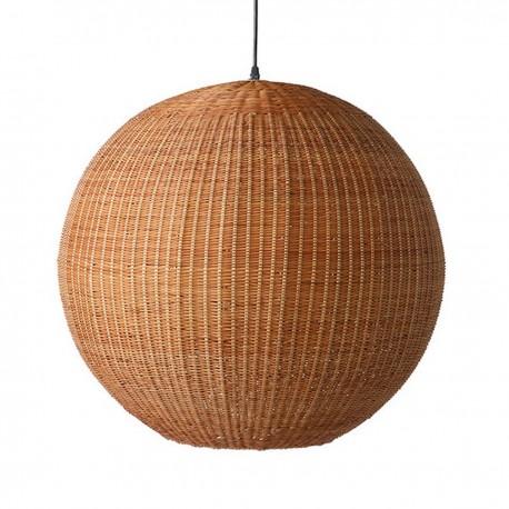 hk living ball suspension boule bois de bambou d 60 cm