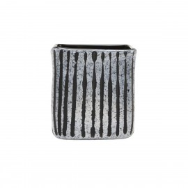 house doctor surat vase carre verre gris effet marbre