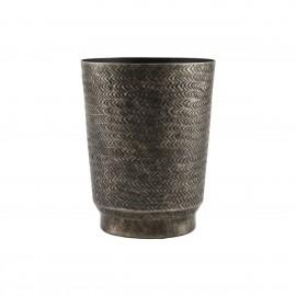 Cache-pot aluminium gravé style ethnique House Doctor Oli
