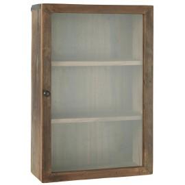 Etagère de rangement bois recyclée vitrée IB Laursen