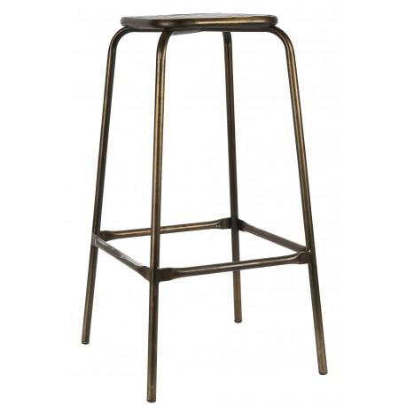 tabouret de bar vintage métal bois ib laursen