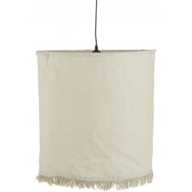 ib laursen suspension textile lin beige franges