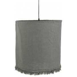 suspension lin gris franges ib laursen