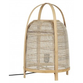 Lampe de table naturelle toile de jute bois IB Laursen