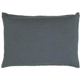 ib laursen housse coussin rectangulaire lin bleu roi 60 x 40 cm