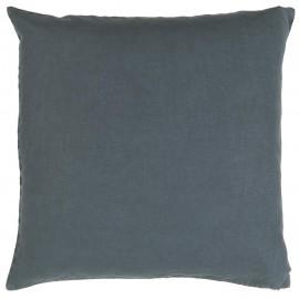 ib laursen housse de coussin carree lin bleu roi 50 x 50 cm