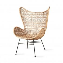hk living egg fauteuil rotin naturel tressage style boheme
