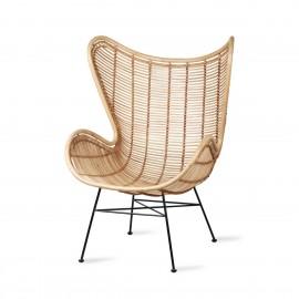 hk living egg fauteuil cosy rotin naturel