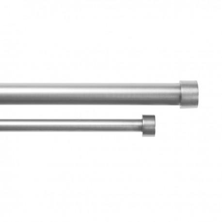 umbra cappa tringle à rideaux double extensible moderne metal argent