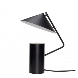 hubsch lampe de table conique design metal noir
