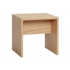 Table basse bout de canapé carré bois style scandinave Hübsch