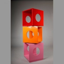 Etagère design pivotante multicolore kube