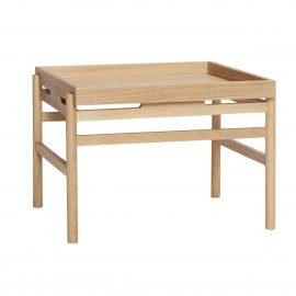 hubsch table basse carre style scandinave bois clair
