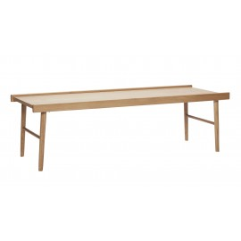 Table basse rectangulaire style scandinave bois clair Hüsch