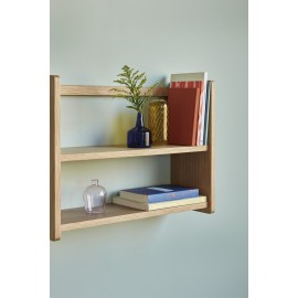 hubsch etagere murale style scandinave bois chene clair