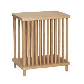 hubsch table de chevet bois style scandinave chene clair